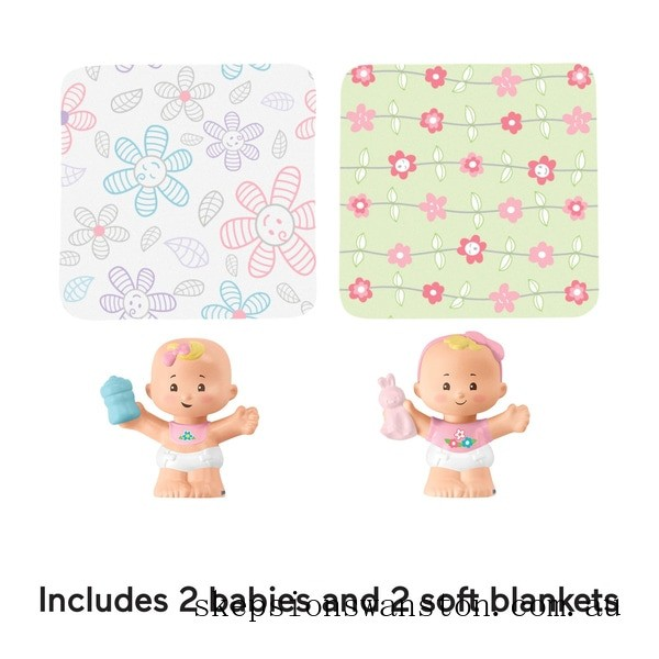 Genuine Fisher-Price Little People Babies Snuggle Twins 2-Pack - Assortment