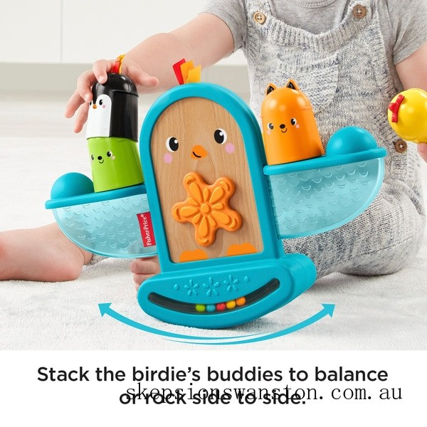 Genuine Fisher-Price Stack and Rattle Birdie Activity Toy