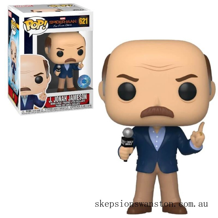 PIAB EXC Marvel Spider-Man Far From Home J. Jonah Jameson Funko Pop! Vinyl Clearance Sale