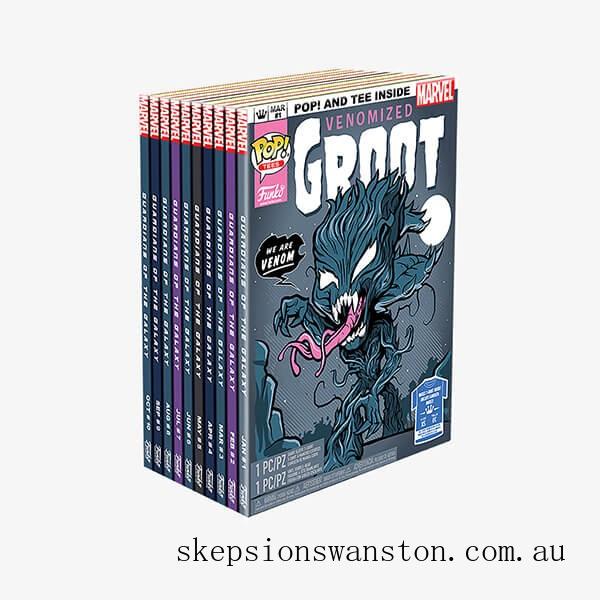 Marvel Venom Groot GITD EXC Pop and Tee Bundle Clearance Sale